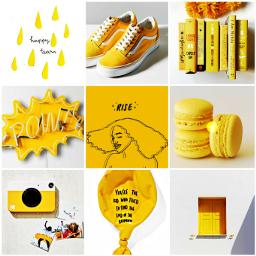 poopymoodboard moodboard yellow freetoedit