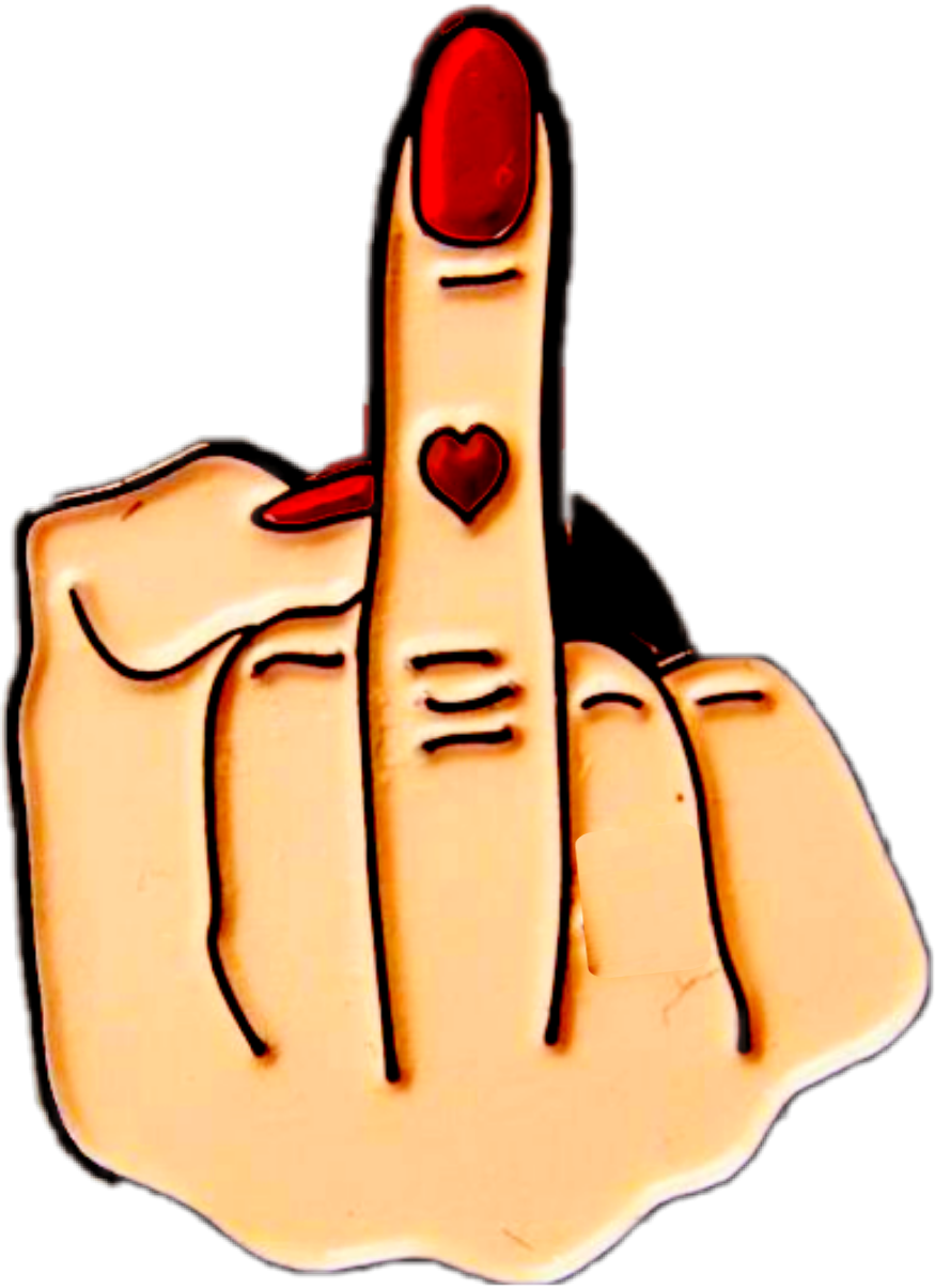 Middle finger sticker. By christina sifford