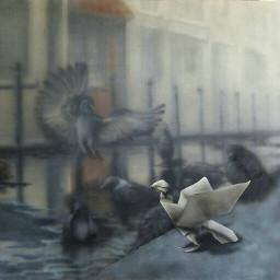 origami birds animalart fadeaway