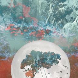 freetoedit moonlight blended colorblending redvelvet