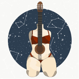 digitalart guitar naked adobeillustrator