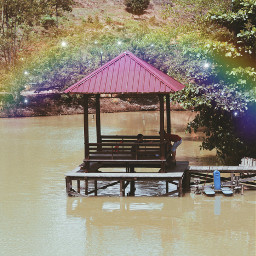latepost scenery cozy rainbow sparkle