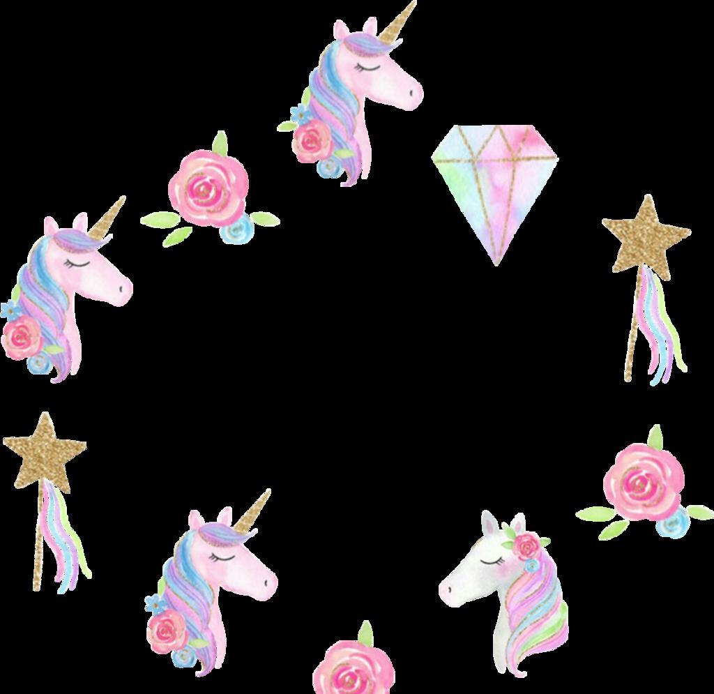unicorn unicornio frame circleframe sticker...