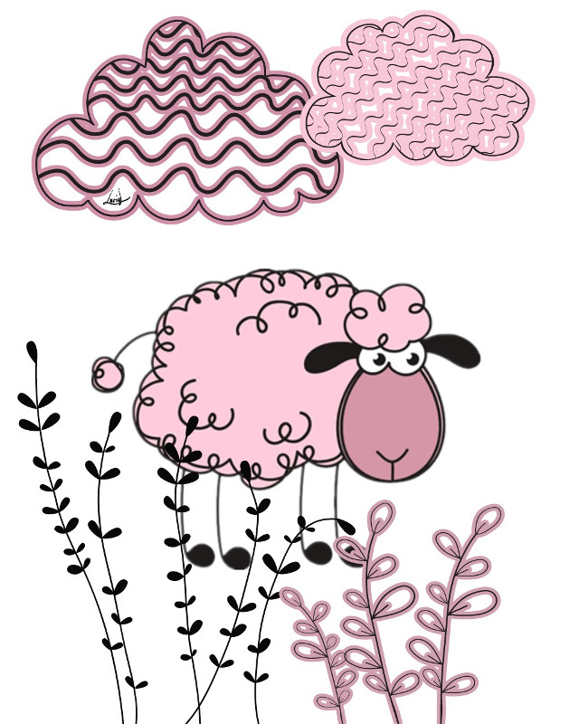 #sheep #pinksheep #pink #meadowdreams #clouds #spring