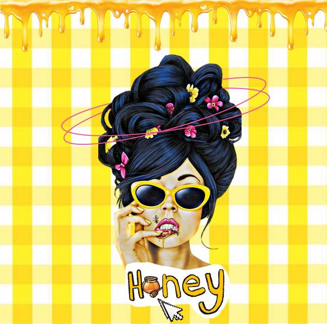 #freetoedit #honey #yellow