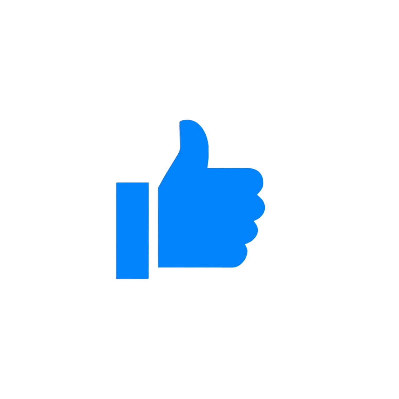 Facebook Like Love React Blue Emoji