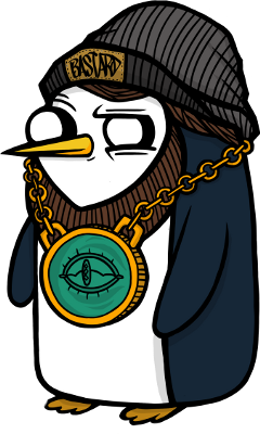 penguin swag cool youth freetoedit