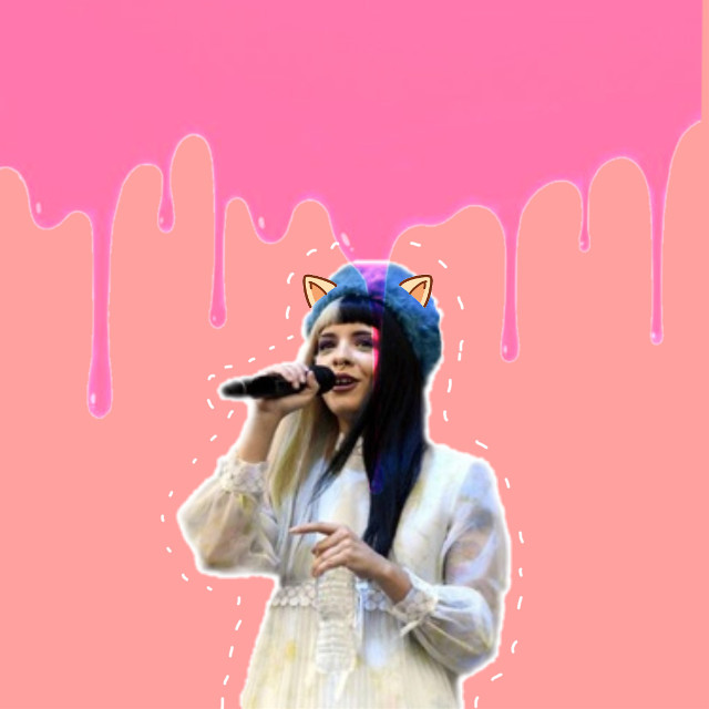 Go subscribe to Natalia M on youtube for more things like this: Melanie Martinez-thriller (Michael Jackson cover.) https://youtu.be/yuK0KQ1Qztk Promise you won't regret it. Have a nice weekend  xxx #melaniemartinez  #paint #dripping #melting #pink #cute #kawaii #ears