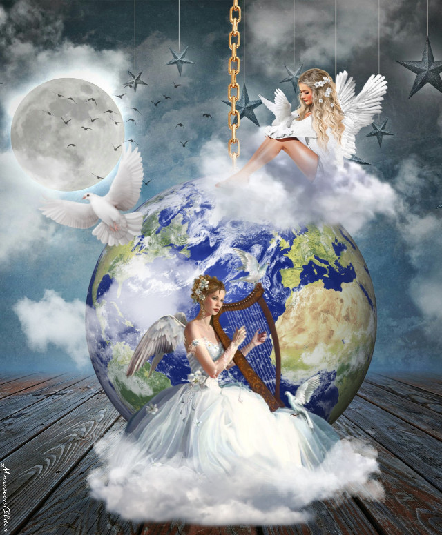 """""""You've gotta dance like there's nobody watching, Love like you'll never be hurt, Sing like there's nobody listening, And live like it's heaven on earth."""" ― William W Purkey   #freetoedit  #srcearthhour #earthhour  #angels #dove #clouds #conceptual #conceptart #Concept #myedit #inspire #inspiration #inspired #dailyremix #remixed #remixgallery"""
