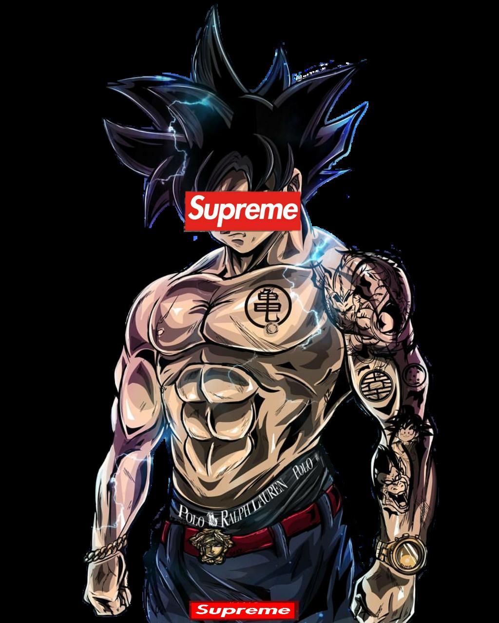 Supreme Goku Sticker By Char