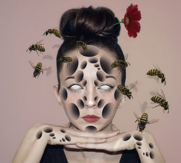 Queen Bee HolesTutorual https://youtu.be/j2LrS6MnqqQ Portrait from unsplash.com  Bees from @silverbullet420  Flower from @efsunluruya