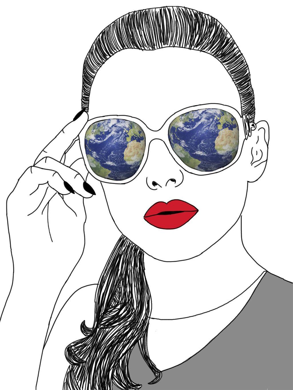 #freetoedit #earthhour #sunglasses #girl #popart #ecearthhour