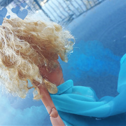 freetoedit barbiedoll barbiephotography blue water
