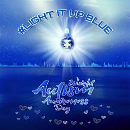 autism worldautismawarenessday autismawarenessmonth blue madewithpicsart freetoedit