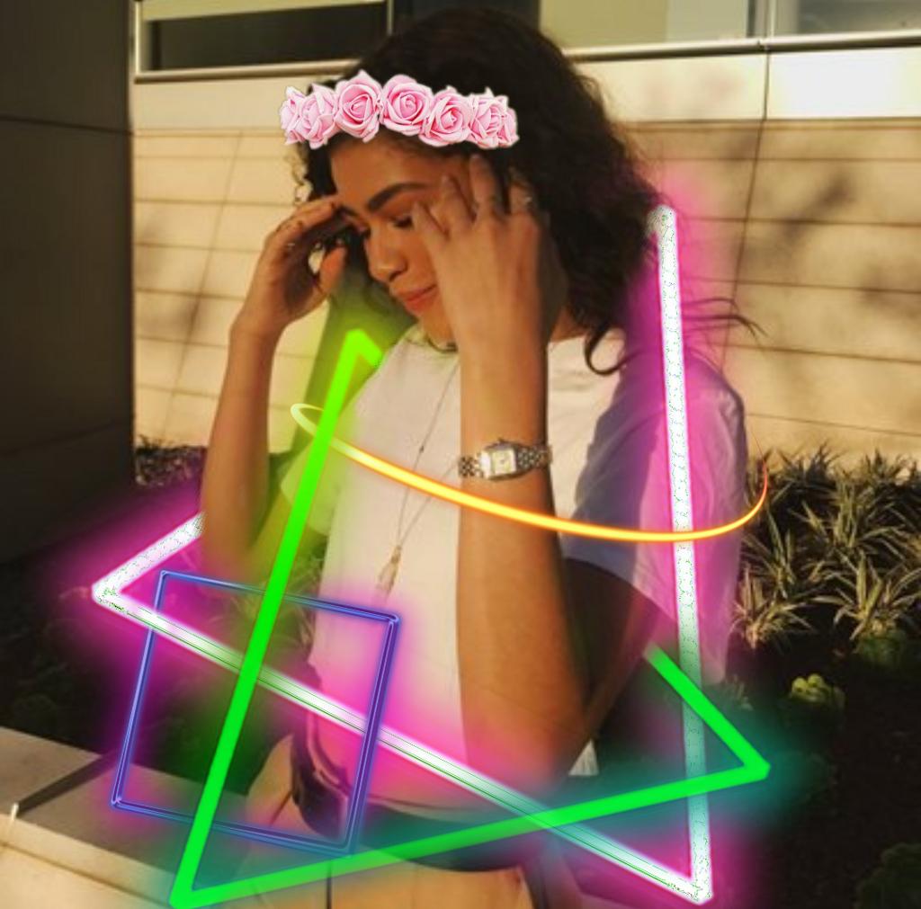 Freetoedit Neon Zendaya Flowercrown Like4like Like Foll