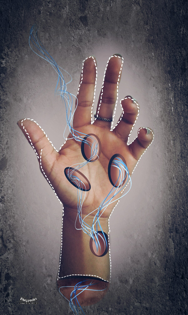 #freetoedit  #hand  #wire #shock #abstract #artistic