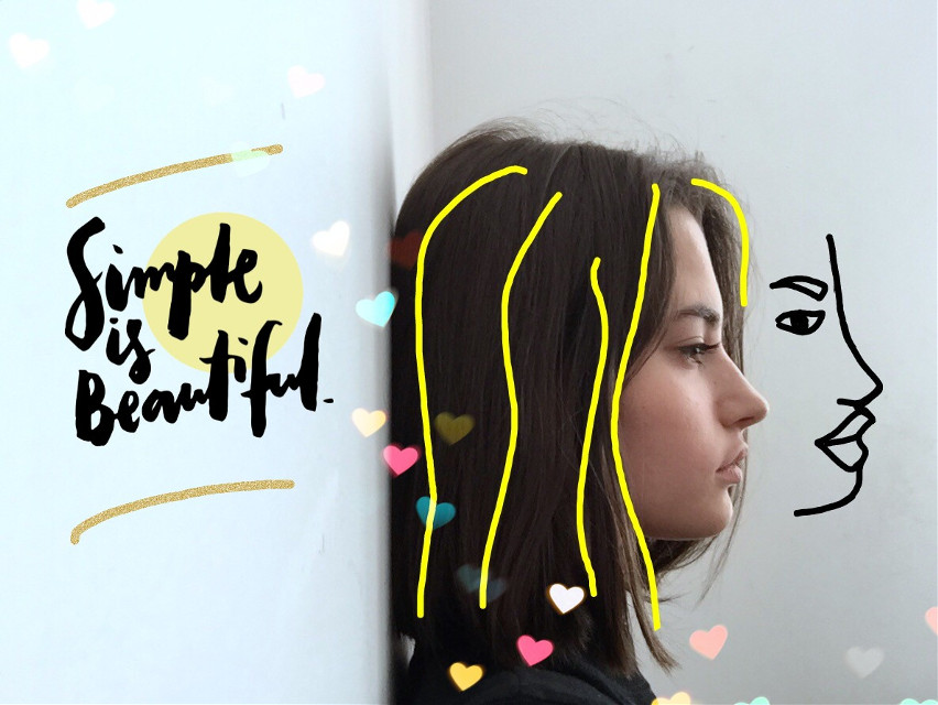 #freetoedit #outline #girl #sideview #remixit #lolitried