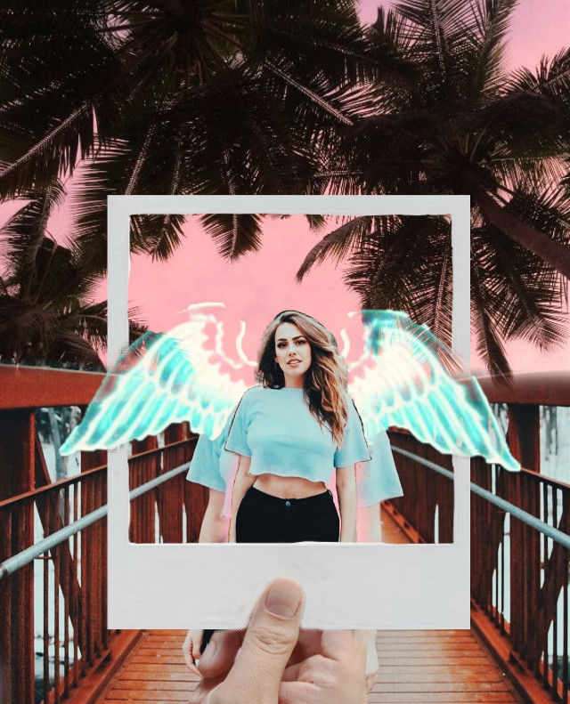 #freetoedit #photography #photoinphoto #poloroid #pink #pinksky #girl #beautiful #colorful #takeapic #hold #colors #remixed #hipallzone