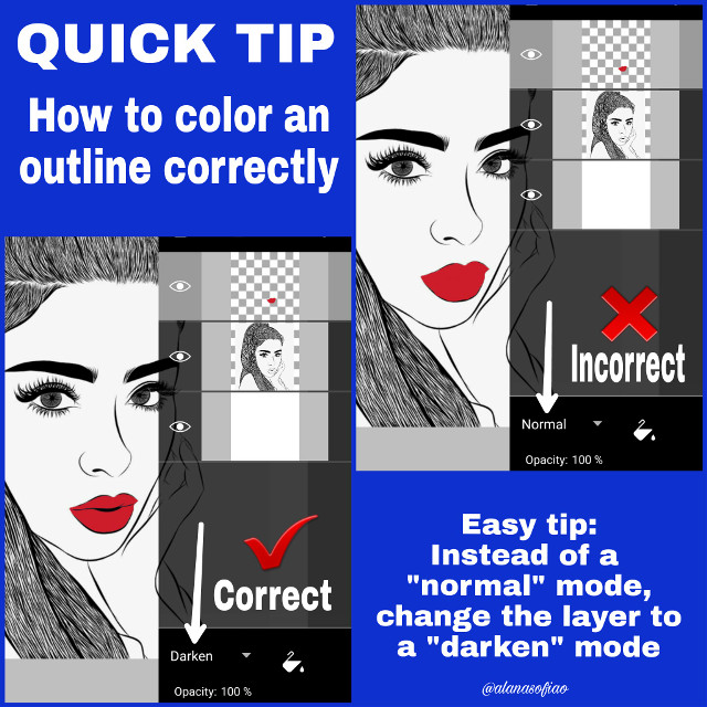 Quick Tip: How to Color an Outline Correctly. This tip helps coloring any drawing Original outline by: @isaacfaraustd  #quicktips #howtocolor #freetoedit