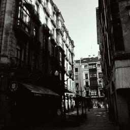 urban oldbuildings centercity b&w gijon