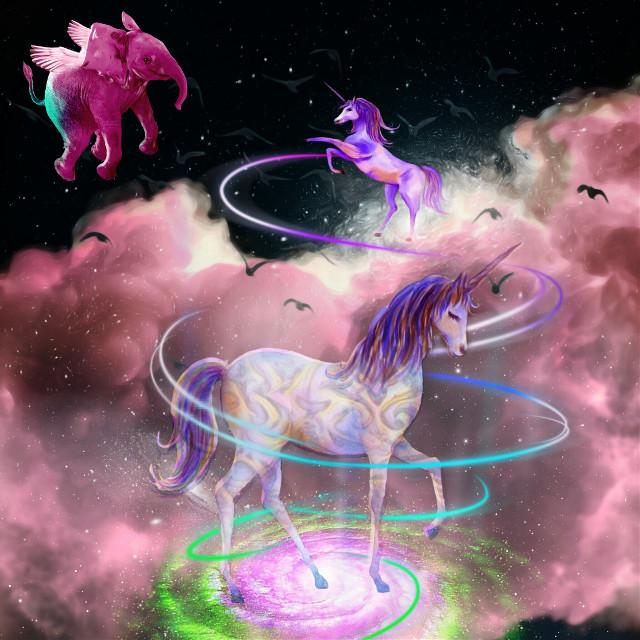 #smashhits #freetoedit  #srccelebratingunicorns #celebratingunicorns #unicorns #elephant #fantasy #magicalcreatures