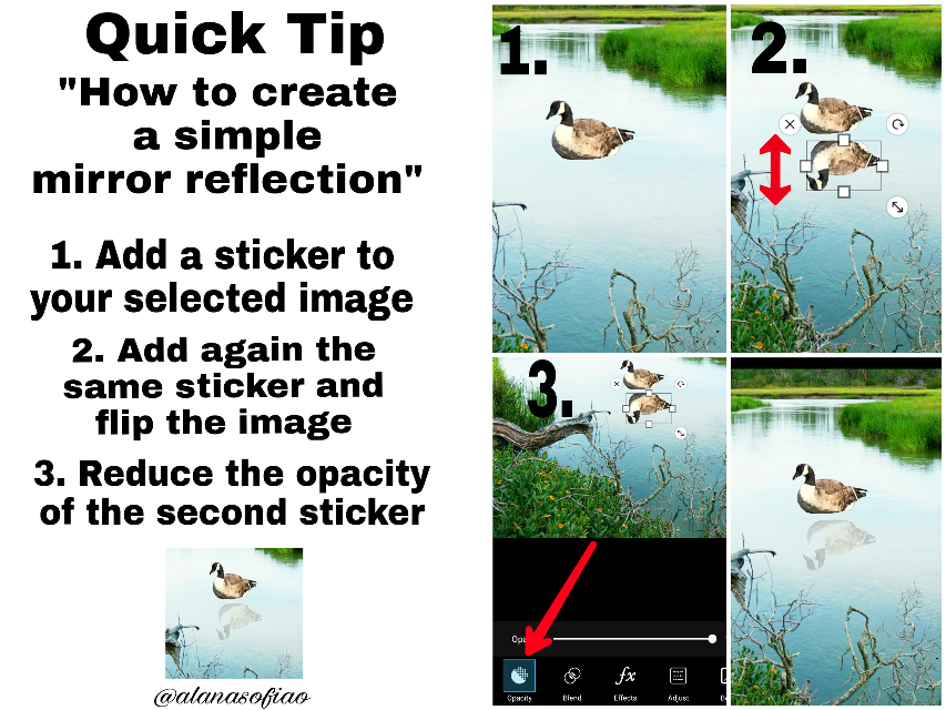 #quicktips #mirrorreflection  #freetoedit  Sorry but for some reason, the sources of the original image and sticker didn't appeared when I saved the tutorial