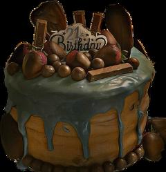birthdaycake chocolate 21st homemade freetoedit