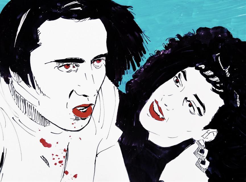 Vampire's Kiss... #drawing #acrylic #theprometeus #ink #illustration