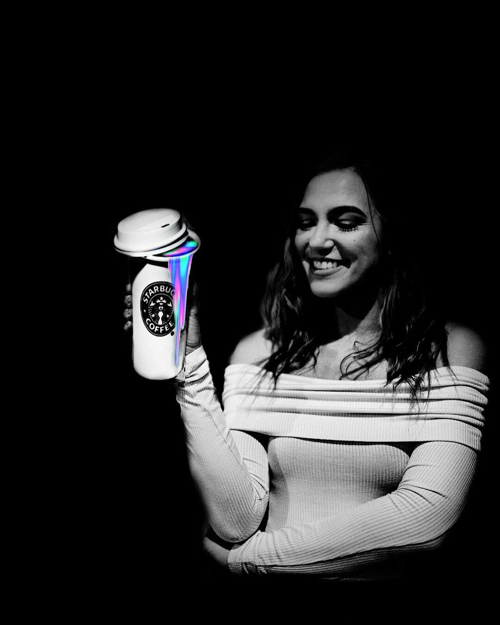 #freetoedit #coffee #pcblackbackground #holographic #beatiful #nice #eccolorsplasheffect