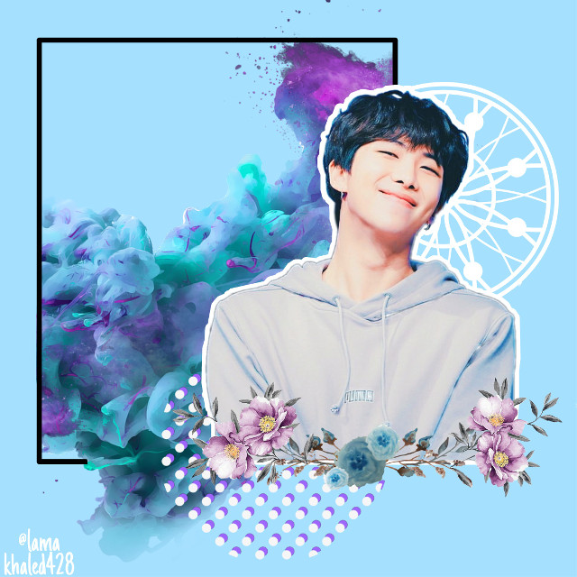#freetoedit #kimnamjoon #bts #myedit #kpop #army #bangtan #kpopstyle #fanart #blue #rm #rapmonster  #purple #circle #dots #paint #flowers #springday  #smoke #remix #edit #korean #boygroup #boy ☺️💙