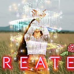 create inspiration neon glitter magic freetoedit