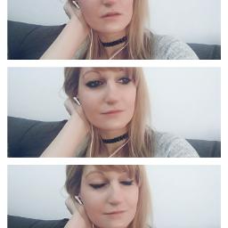 music selfie face smile woman