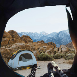 freetoedit camping mountain view tent