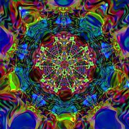 freetoedit psychedelic abstract mandala mandalamania