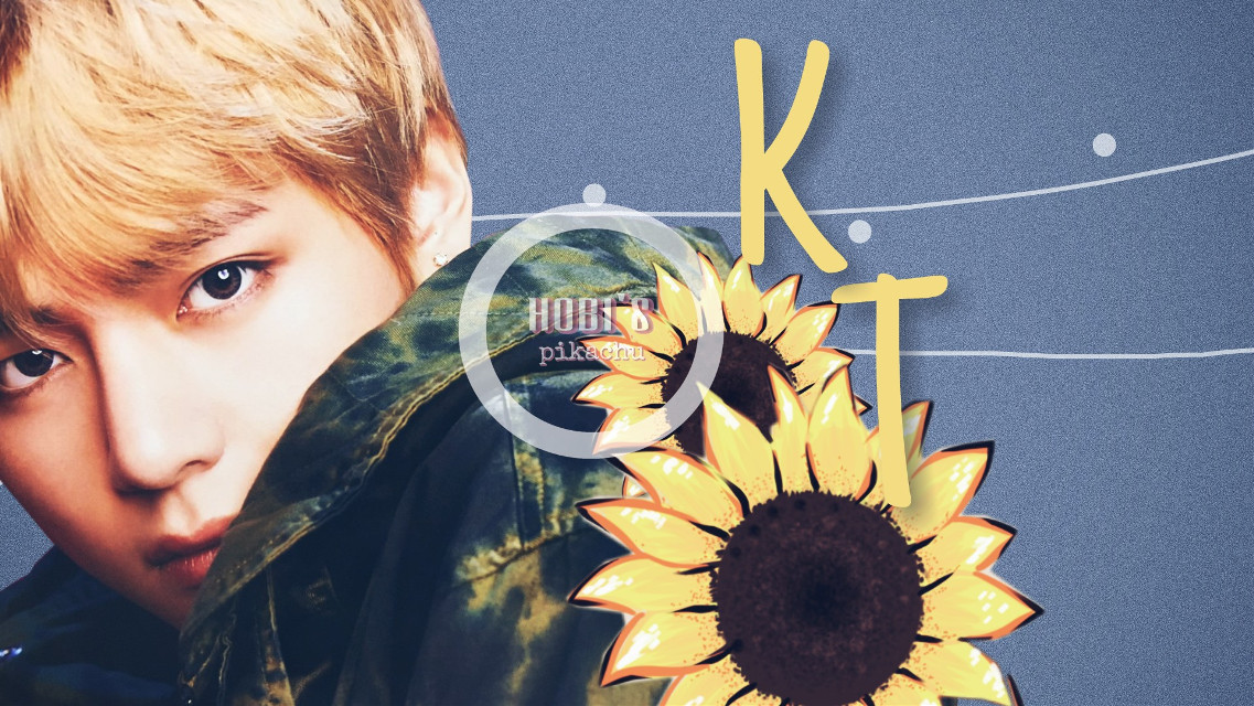 Taehyung desktop wallpaper  For awesome @lollycraft   #lollyscontest   The sunflower is drawn by an awesome picsartist @diegochagas. Go check out their gallery 💖👍 #vipshoutout     Tags: #taehyung #kimtaehyung #btsedit #kpopedit #wallpaper #desktopwallpaper  #sunflower #taehyungedit     #freetoedit