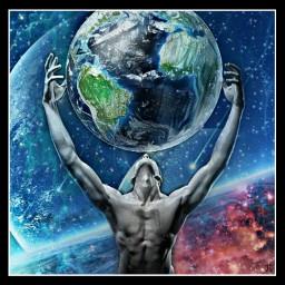 earth earthday atlas space stars freetoedit ircearthday