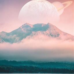 ircmagicalmountain magicalmountain freetoedit moon saturn