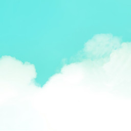 sky tealsky clouds colorchange background freetoedit