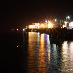 freetoedit nightshot ocean lights longexposure
