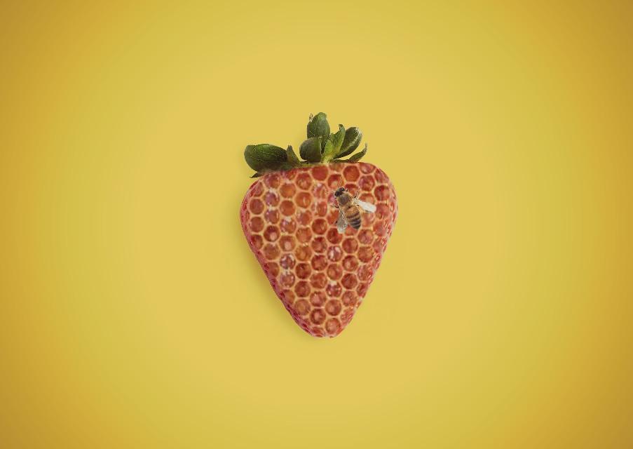 #freetoedit #picsart #remixit #beehive #bee #strawberry