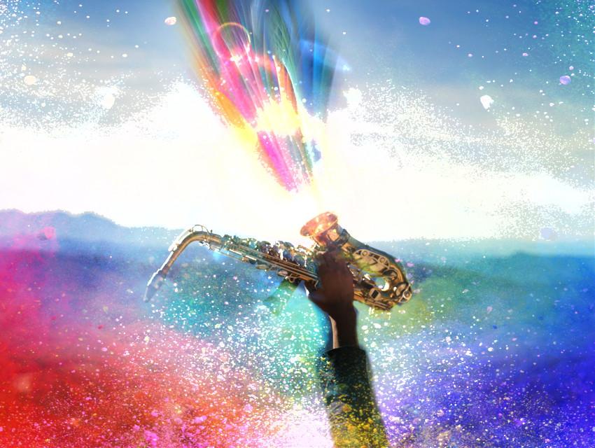 #freetoedit #colorfestival #lensflare #sax #music