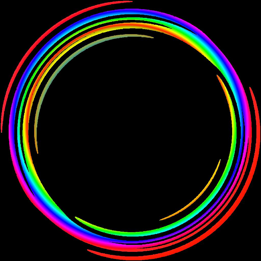 round frames frame border borders colorful rainbow