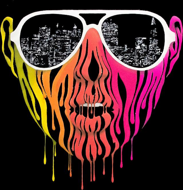#paint #drip #art #glasses #sunglasses #people #face #buildings