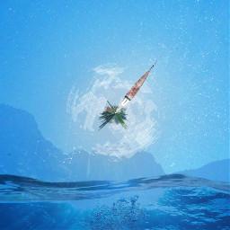 freetoedit water tinyplanet mountain overlay stars bigbang