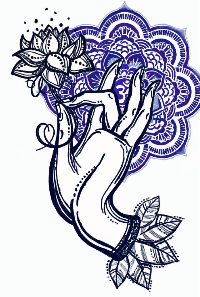 #freetoedit  #dchands #hands #remixit #buddha #lotus #mandala #pattern #creative #art #painting