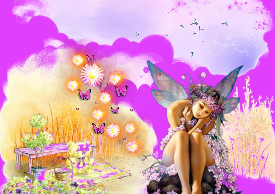 #freetoedit #vipshoutout @terrieasterly 💕💕 #fairy #butterflies #fantasyart #myedit #madewithpicsart