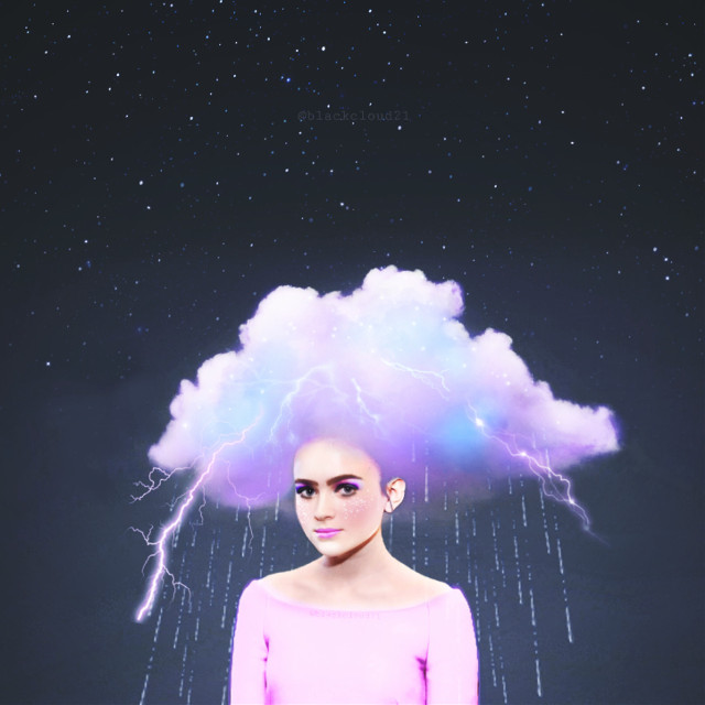 #echairart #hairart #madewithpicsart #madebyme #sadiesink #magic #magical #colorful #night #stars #clouds #lightning #girl @picsart #remixed from @mellow_light