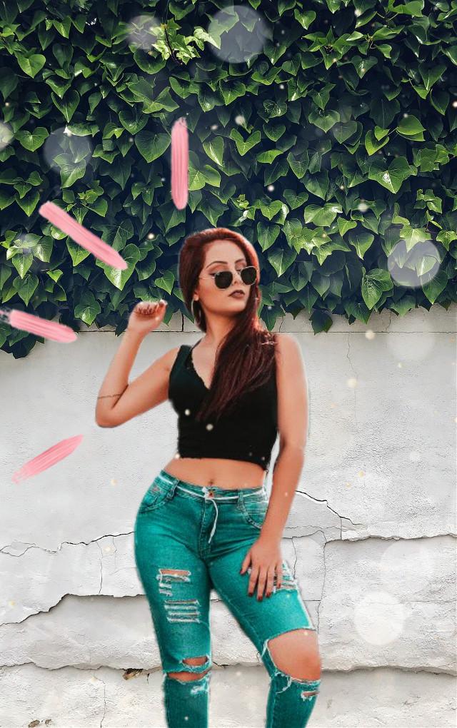 #freetoedit #girl #green #bokeh #sunglasses