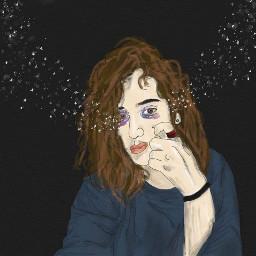 digitalart stars tears adobeillustrator