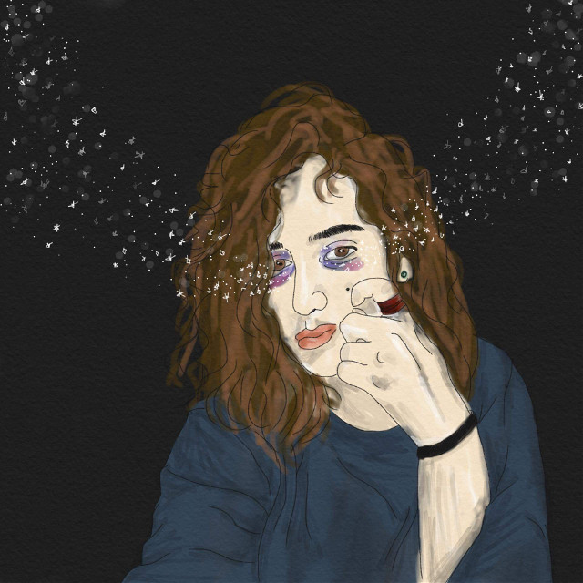 crying the galaxies out of me #digitalart #stars #tears #adobeillustrator